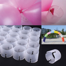 2016 Hot New 50Pcs Decorative Balloon Arch Folder Convenient Buckles Clip Multiple Accessories Connect Ring Connectors(China (Mainland))