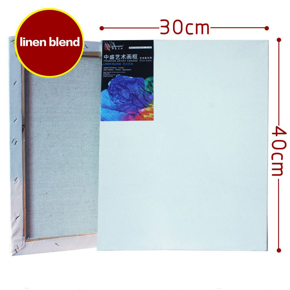 30cmx40cm Blank stretched canvas, artist painting canvas, linen blend canvases, blank canvas art, primed canvas(China (Mainland))