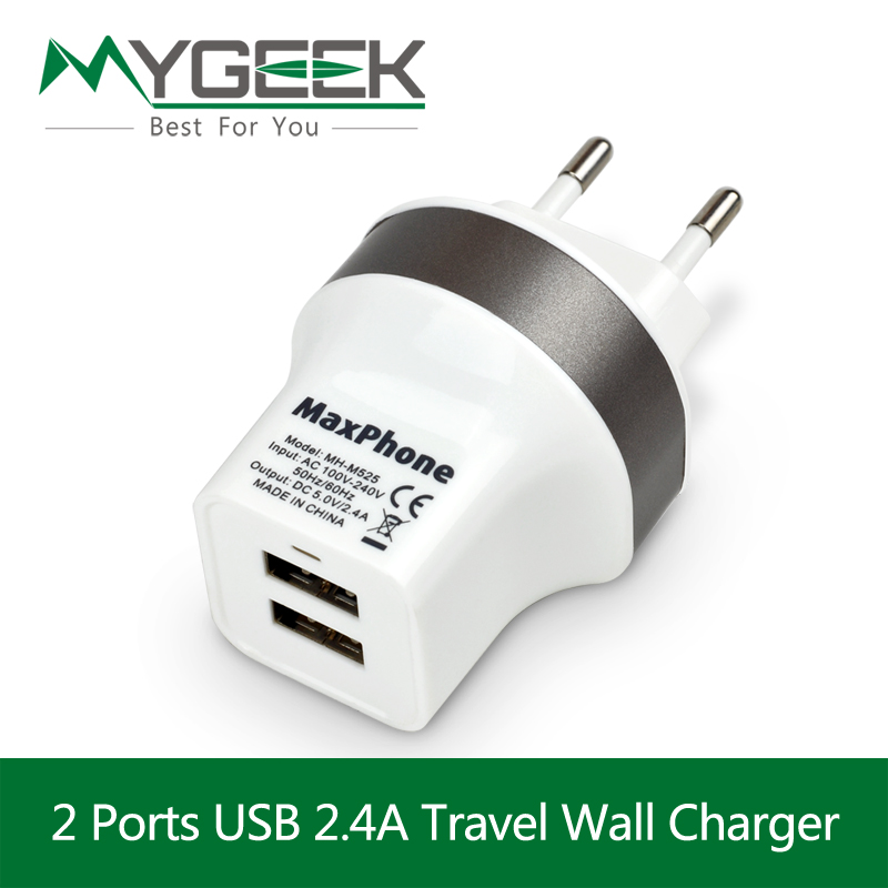 5V 2.4A Dual USB Charger Travel USB Wall Charger EU UK Plug Mobile Phone Smart Charger for iPhone 6 Xiaomi Tablet Samsung Galaxy(China (Mainland))