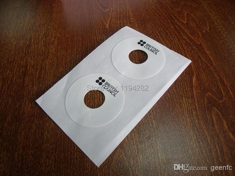 1000 pcs/ roll library DVDs CDs HF rfid tag 13.56 Mhz ICODE rfid label 20 cm read distance ISO15693(China (Mainland))