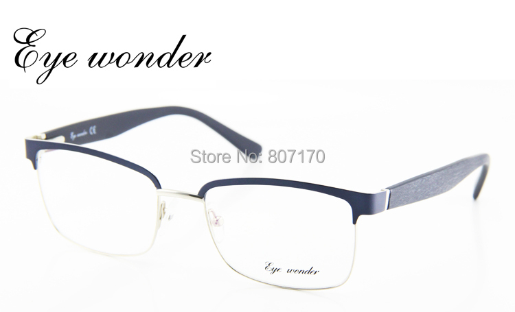 eye wonder new vintage metal glasses men designer half frame square retro glasses women classic optical