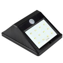 Epbowpt 12 LEDs PIR mouvement / nuit capteur solaire étanche IP64 lampe de jardin Outdoor Wall Light 800 mAh batterie pur blanc(China (Mainland))