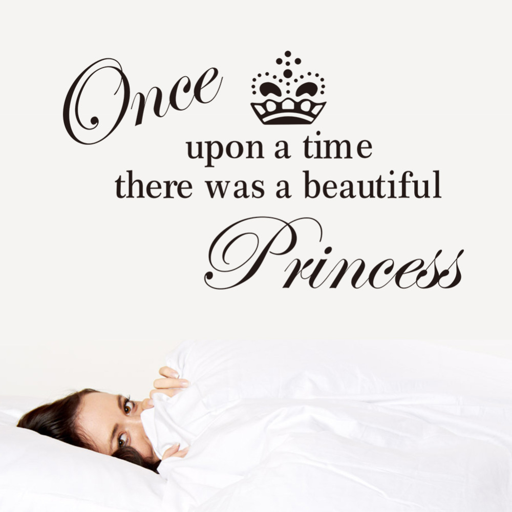 Once Upon A Time Words: Removable English Words Once Upon A Time Princess Wall