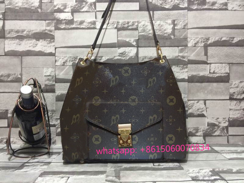 Free shipping the highest quality monogram canvas METIS m40781 shoulder bag METIS genuine oxidizing leather women handbag(China (Mainland))