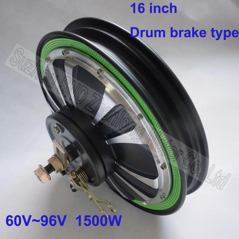 Factory sale 16 inch 1500w brushless 60V- 96v universal full plate electric motorcycle hub motor G-M060 - Suzhou SND Zhenlong Motor Co. Ltd store