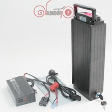 48V 19.8AH  rear carrier OEM Li-ion Battery with 5A Charger and BMS(China (Mainland))