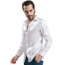 2016 New Quality mens Long sleeve Silk Shirts Male Grace Luxury Stylish Casual Summer Dress Shirts China Imported Mens Clothes(China (Mainland))