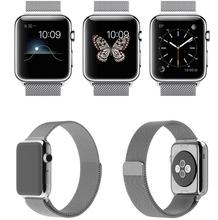 Milanés malla Loop venda de reloj para Apple Iwatch acero inoxidable correa de reloj de Metal para Apple reloj con conector