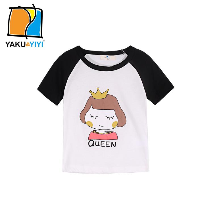 New Summer 2016 Baby T Shirts For Girl Cotton Short Sleeve Cartoon Print Brand Tees Spring Kids Cute Tops Girl T-shirt Camisetas(China (Mainland))