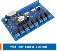 USR-IO88 LAN Network Relay Control Module 8 Channel WiFi Relays Remote Control Board Support Timing function