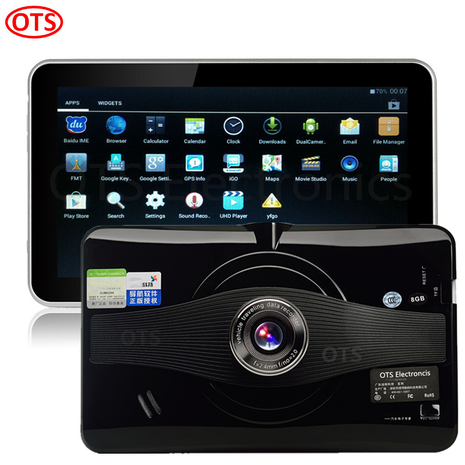 Latest 7 inch GPS Navigation Android GPS DVR Car Camcorder Car Truck Vehicle GPS Video recorder WiFi Internet 8GB Internal disk(China (Mainland))
