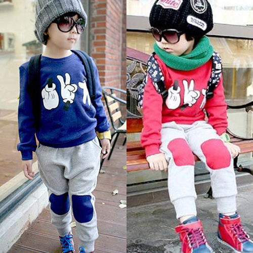 2014 spring and autumn new children's two-piece Sweatshirts / girl casual sports apparel ( long-sleeved T-shirt + trousers )(China (Mainland))