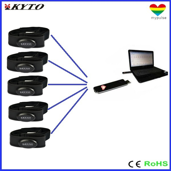 DHL shipping 2.4 G heart rate monitor for Club fitness solutions ( 1 USB receiver +5 belts)