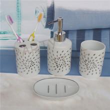 Ceramic bathroom accessories set, toothbrush holder, decal sanitary(China (Mainland))