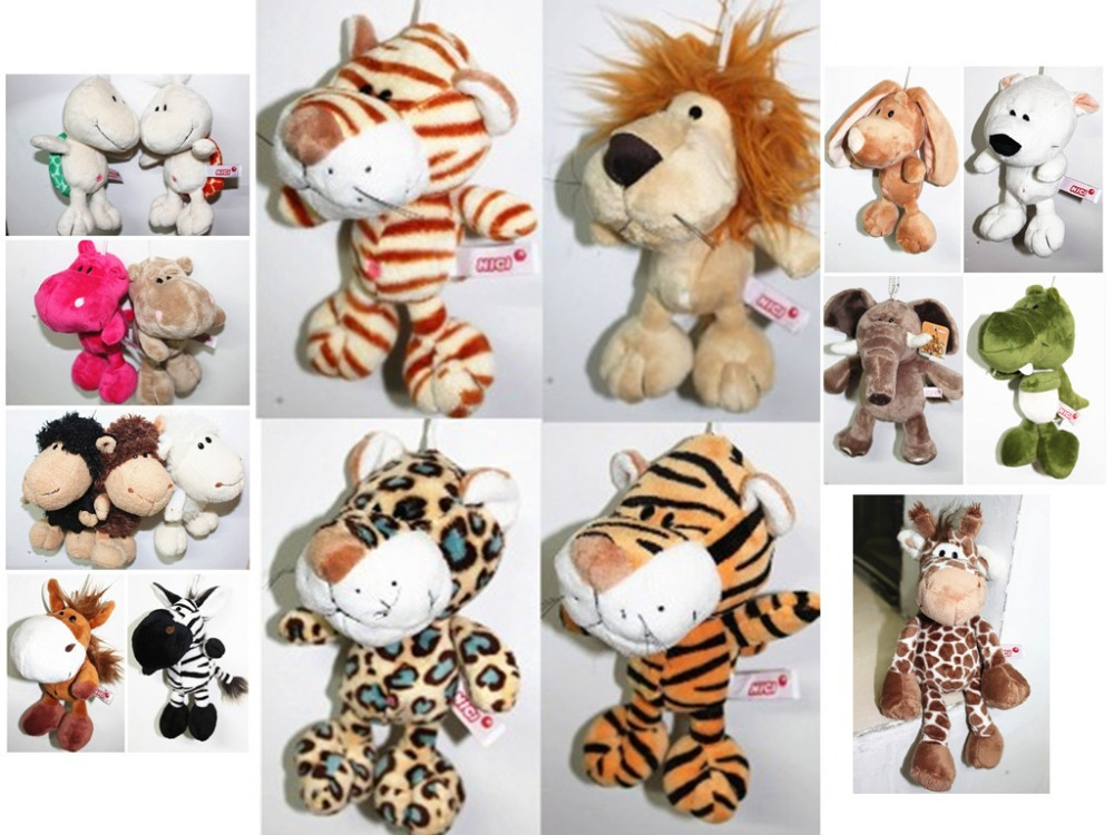 20 cm plush toy animals, rabbits, lions, tigers, sheep and so on 3 PCS/LOT, high quality toys, free shopping, baby toys(China (Mainland))