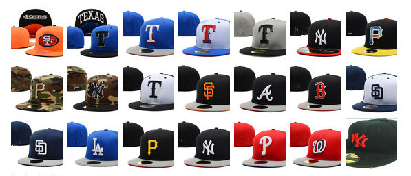 New baseball fitted cap san francisco size caps indians pirates football closed back hat for men size 7-8(China (Mainland))