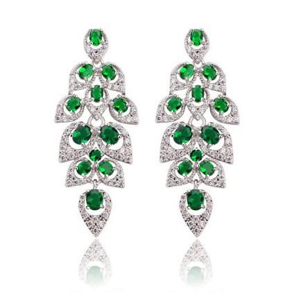 Luxury Bridal Jewelry Hearts & Arrows Cut AAA Cubic Zirconia Women Big Drop Earrings Wedding TM21 - SEU store