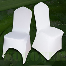 100 Stretch Elastic Universal White Spandex Chair Covers for Weddings Party Decorations Banquet Hotel(China (Mainland))
