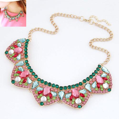 New 2013 Items Christmas Gifts bijou accessories short designer rhinestone choker necklace hot sale brand jewelry(China (Mainland))