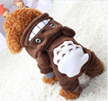 Dog Pet Cat Costume Dog Winter Jacket Coat Fleece Warm Hoodie Coat Jumpsuit Four Leg Clothing