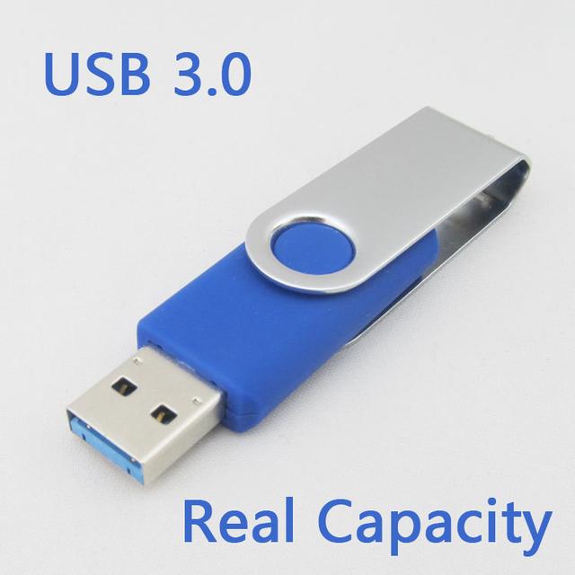 Flash Memory Usb Stick USB 3.0 Flash Drive Colourful Swivel Pen Drive 16GB 32GB 64GB Flash Memory Stick Card 128GB