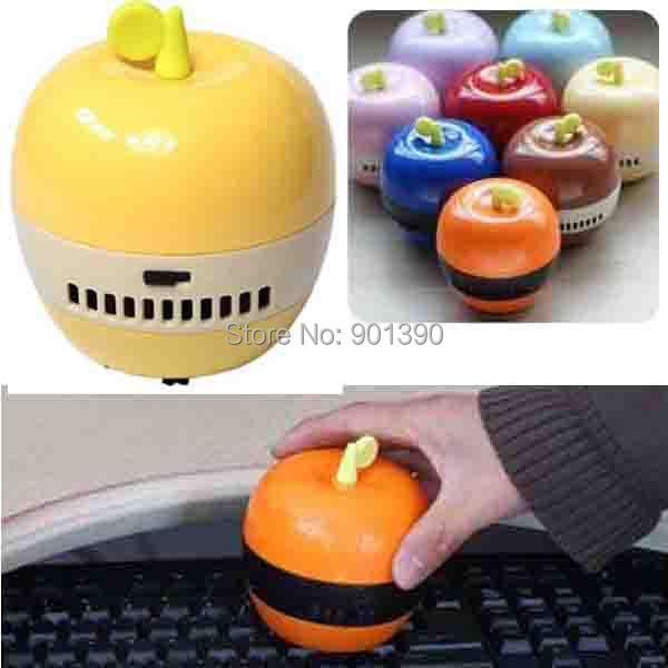 2014 New Mini home Handheld vacuum cleaner desk cleaner Apple mini desktop dust collector Desktop Cleaner(China (Mainland))