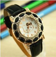 El nuevo relojes moda para los niños, deportes recreativos zafiro KT gato reloj de cuarzo