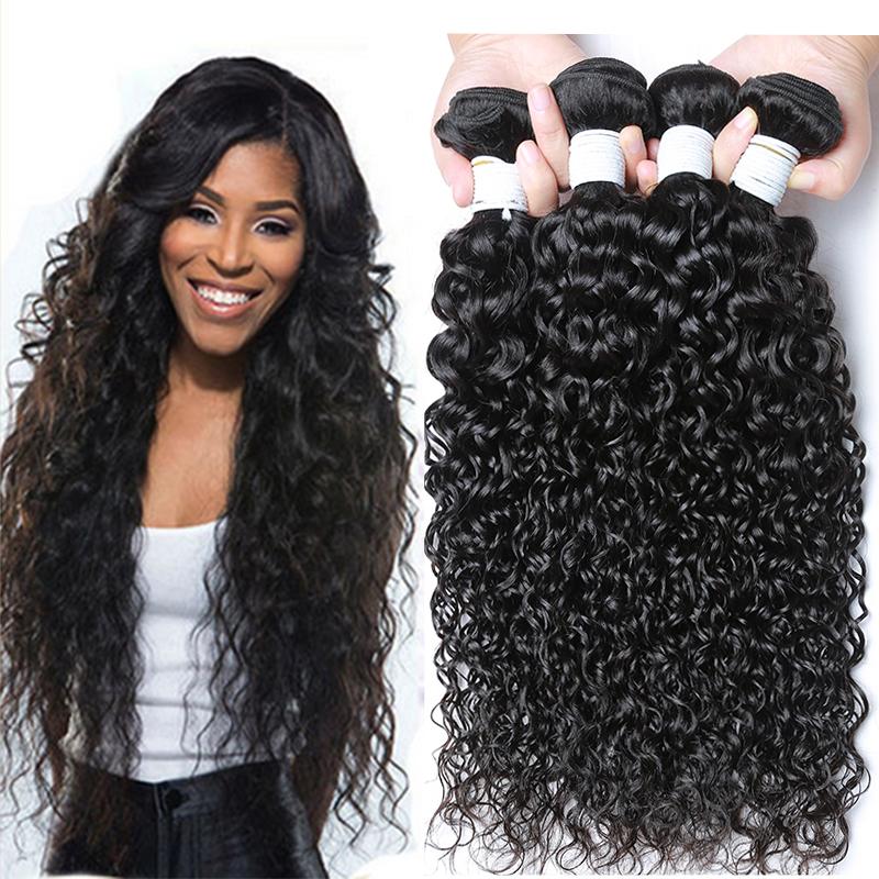 Water Wave Hair Weave Human Hair Extensions