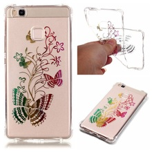 Huawei P 9 Lite TPU Bag Cover Lacquered Soft Gel Case P9 Lite/G9 - Butterflies Floret Tvcmall online 6 Store store