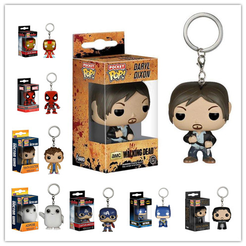 Genuine MFunko POP Vinyl Figure TV Television Walking Dead Daryl Dixon Pocket POP Keychain Action Figure Model With Box IN STOCK(China (Mainland))