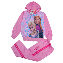 2014 new winter hooded jacket fashion design, lovely sport clothing, cartoon characters Anna and Elsa suit, romantic snow suits(China (Mainland))