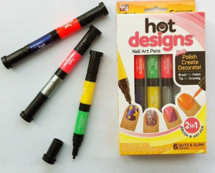 ... Hot Designs Nail Art Pens Personality Nails Double Nail Polish Pen 506
