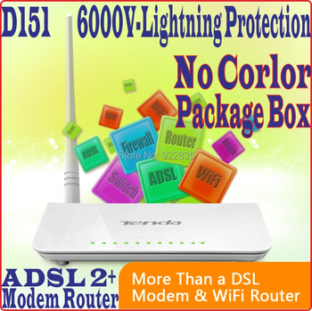 [Eng-Firmware] Tenda D151 D154 Wireless 150Mbps ADSL2+Gateway All-In-1 Modem Router 802.11ngbu3 / No Color Package Box, PROM5