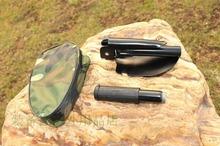 2016 New Outdoor Survival Folding Shovel Mini Garden Spade Tent Camping Trowel Dibble Pick Tool CS