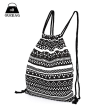 National Women Canvas Drawstring Backpack Newest Vintage College Students School Bagpack Girls Mochila Feminina Sports Sack Bag(China (Mainland))