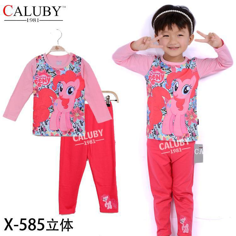 2015 Fashion My Little Pony Pajama Set / little girls Clothing Sets/ children cartoon Sleepwear/Pyjamas/night wear/home wear<br><br>Aliexpress
