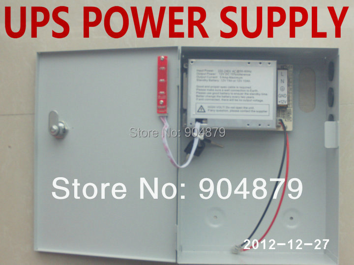 Lowest Cost LED 12V / 5A UPS Power supply for Security Door Access controller panel board system/ Uniterruptible Power Supply(China (Mainland))