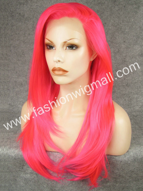 DHL Free 24 Long #TF2315 Silky Straight Heavy Density Synthetic Fiber Front Lace Carnival Wig W02<br><br>Aliexpress