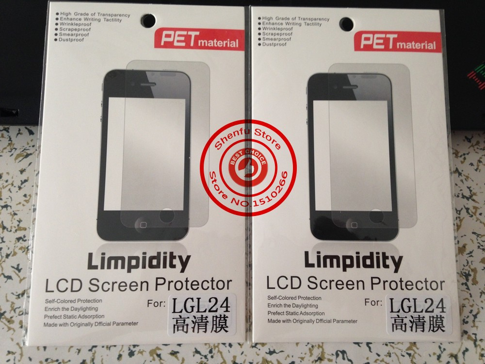 10 Pieces/Lot Glossy Clear Matte LCD Mobile Phone Screen Protector PET Protective Film For LG L24 isai VL LG V31 retail package
