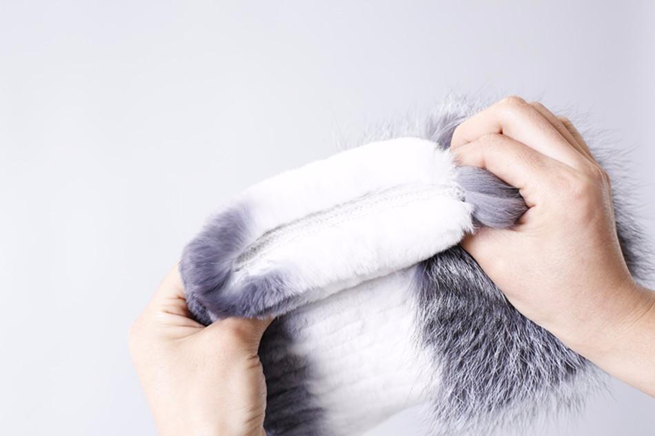 Скидки на LTG МЕХ 2016 новая мода зимы женщин шляпа с fox мех топ женский эластичный вязаная шапка Зимняя женщины рекс кролика шляпа