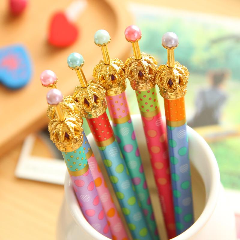 Cute Kawaii Crown Metal Mechanical Pencils for Gift School Office Supplies Korean Stationery Free shipping 263