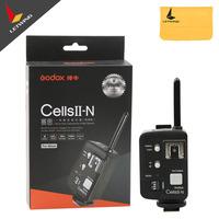 Godox Cells II 1/8000s Wireless Transceiver Trigger Kit for Nikon EOS Camera, Speedlite and Studio Flashes V850 V860 AD360