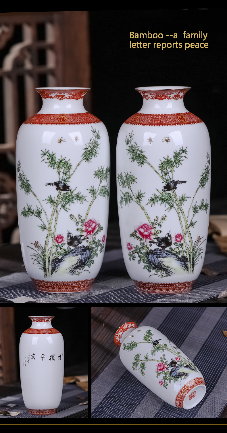 Antique Jingdezhen Ceramic Vase Eggshell Vase Desk Accessories Crafts Snow Flower Pot Traditional Chinese Style PorcelainVase