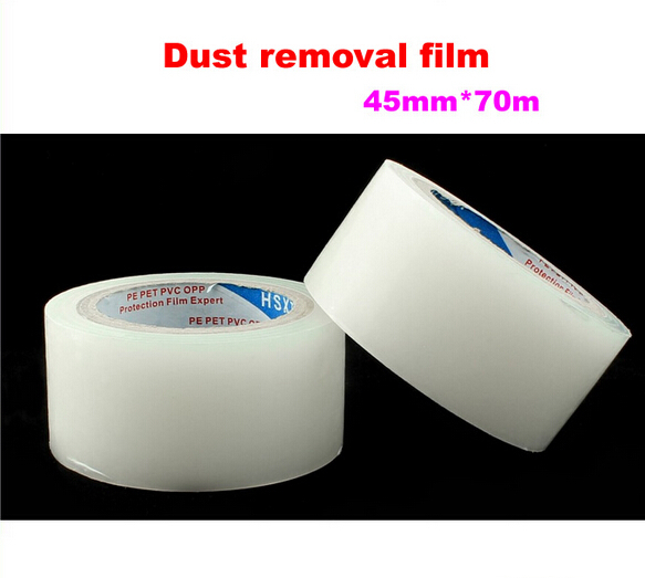 Dust removal film 45mm*70m for mobile phone tablet LCD screen dust removal sticker(China (Mainland))