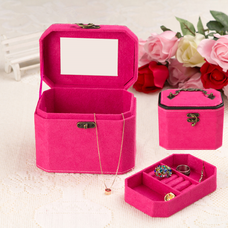 Multifunction Fashion Women's Velvet Necklace Rings Jewelry Storage Boxes Wedding Gifts Packaging Boxes Jewelry Box Organizing(China (Mainland))