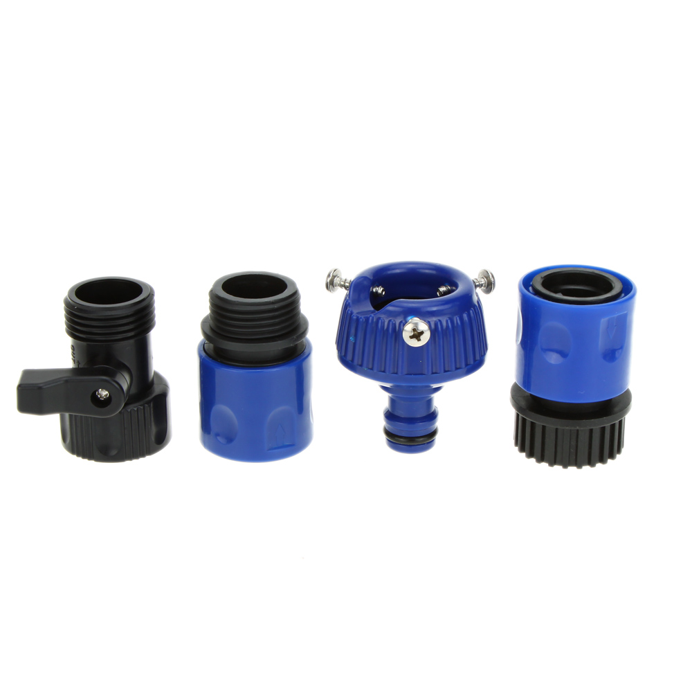 Blue Ultralight Garden Water Hose Connecting Fitting Faucet Connector + Fast Connector + Valve Watering Irrigation Accessories(China (Mainland))