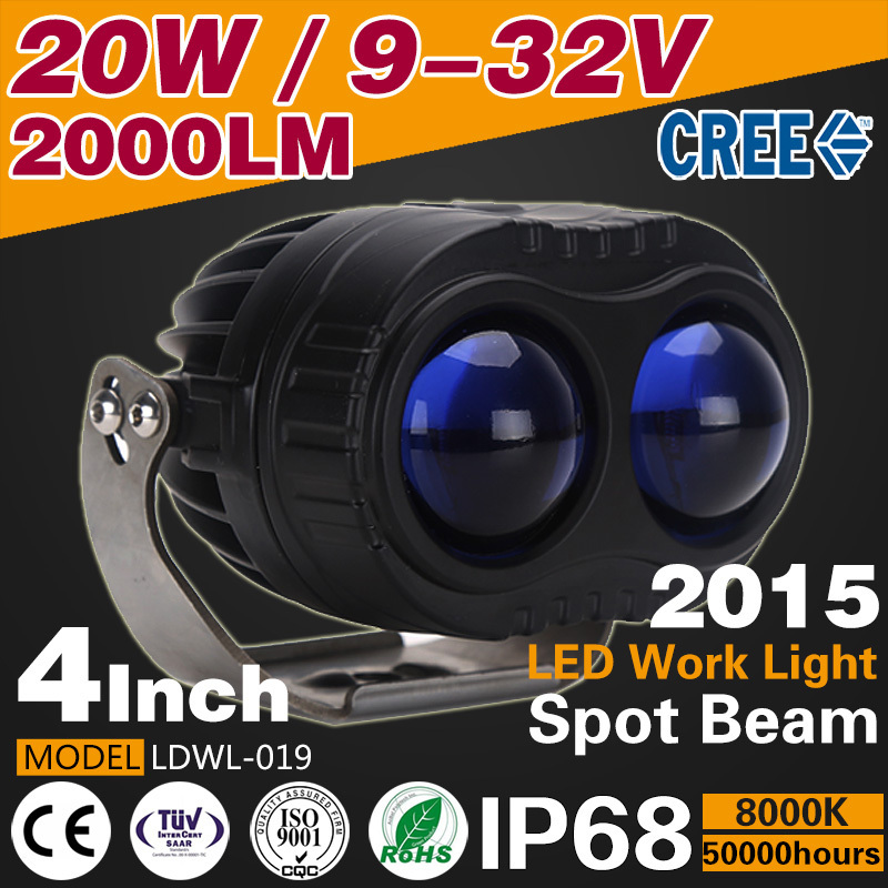 2015 new product 4Inch 20W LED Car Work light Searchlight spot light 12v 24v Tractor Boat Off-Road 4WD Truck usv 4x4 accessories(China (Mainland))