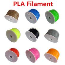 Makerbot/reprap/mendel/UP 3D printer PLA 1.75mm 1kg(2.2lb) filaments multicolor  Plastic Consumables Material