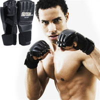 1 Pair Cool MMA Muay Thai Training Punching Bag Half Mitts Sparring Boxing Gloves Gym Free Shipping