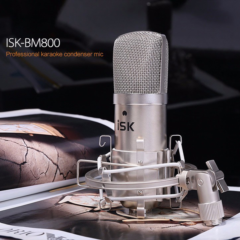 Фотография FW1S ISK BM-800 condenser Microphone professional recording microphone music create broadcast and studio microphone FreeShipping